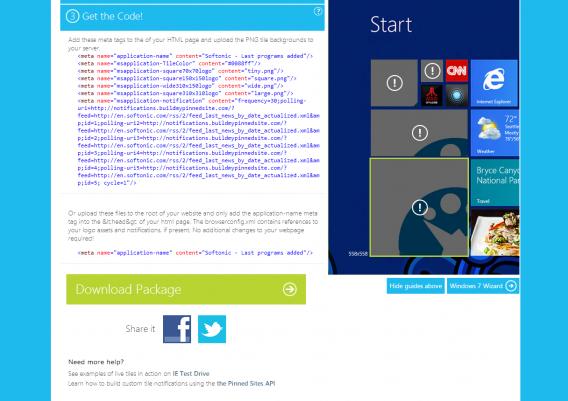 Copier coller le code HTML de la live tile