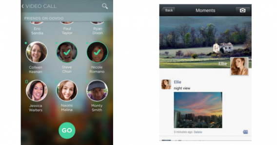 Tela de funcionalidades adicionais no ooVoo e WeChat