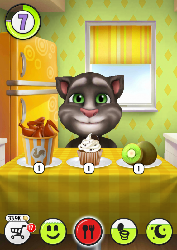 Donner à manger à Talking Tom Cat