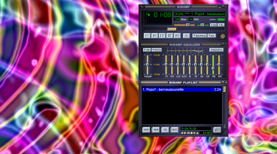 Visualisation Winamp