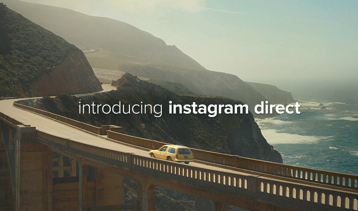 Instagram lance Instagram Direct, une fonction de messagerie et de photo