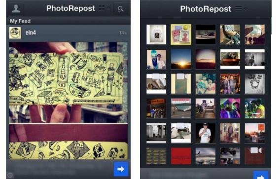 Votre fil d'actualités Instagram dans PhotoRepost