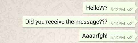 WhatsApp Confirmation