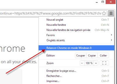 how to close chrome in windows 8 mode