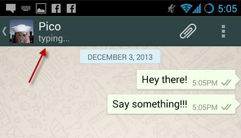 WhatsApp en train de taper