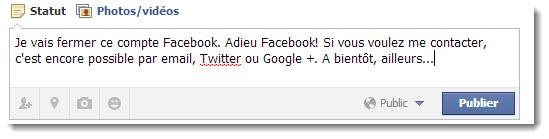 Adieu Facebook