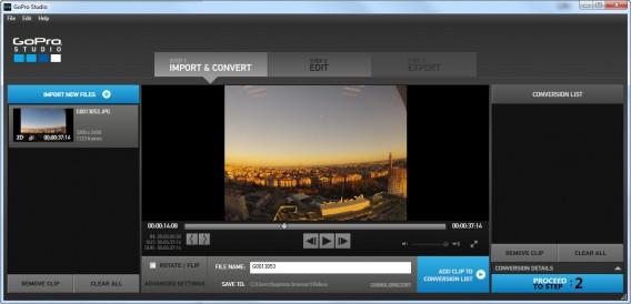 GoPro Studio time lapse