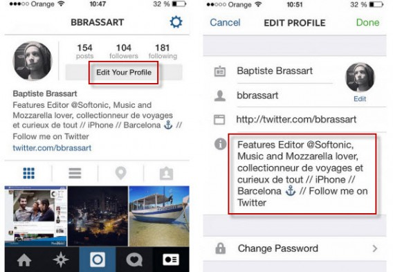 Instagram: take care with your profile