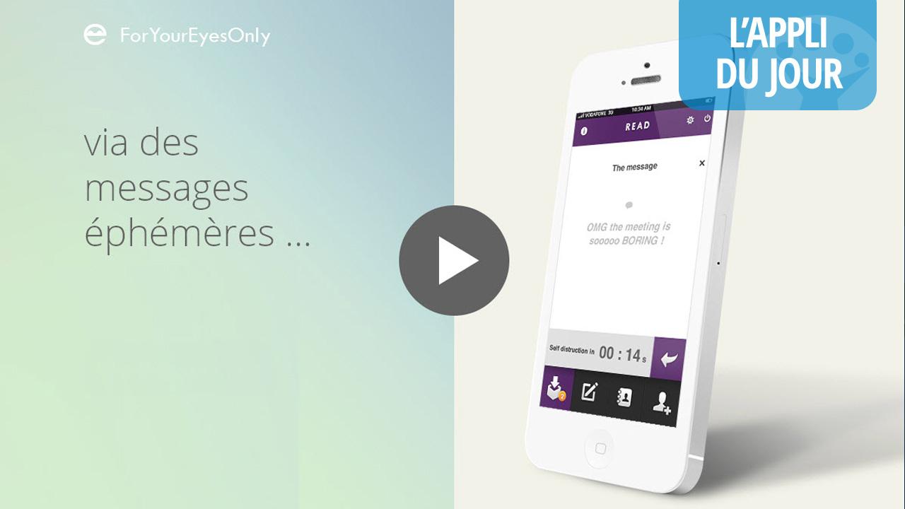 Appli du jour : FYEO, la messagerie éphémère française pour communiquer en sécurité [iOS]