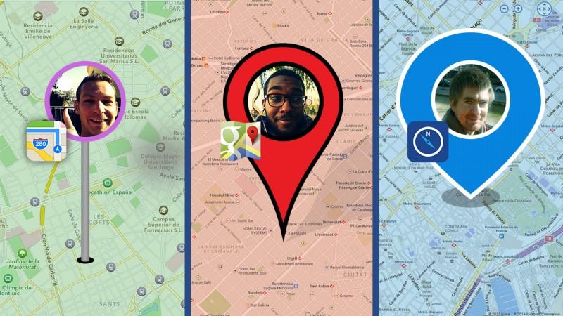 Google Maps meilleur qu'Apple Plans et Nokia HERE? Nous les testons à Barcelone!