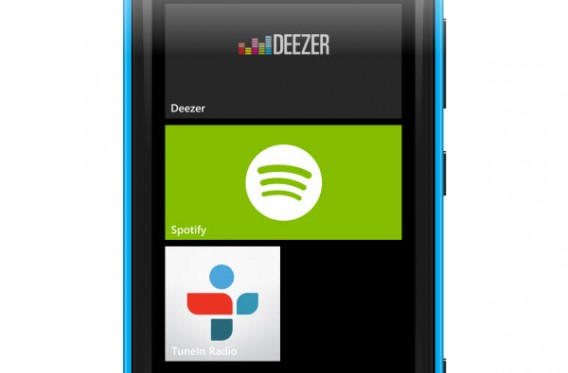 Foto do Deezer no Windows Phone