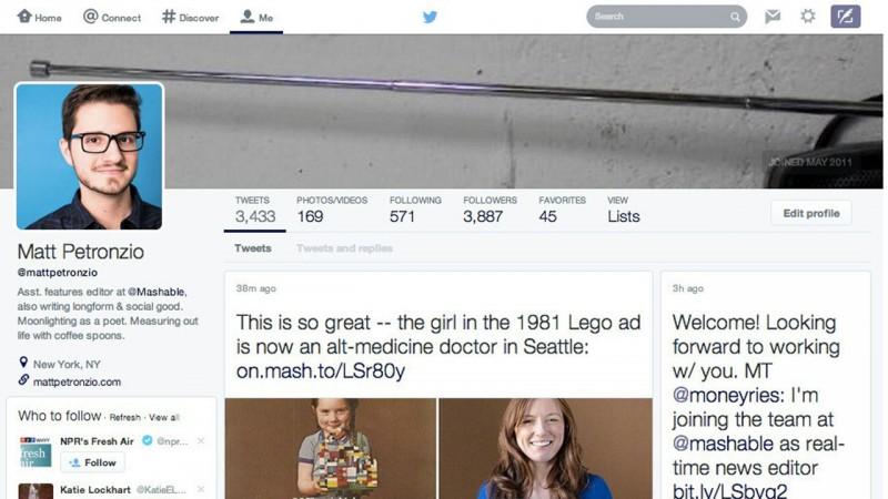 Facebo…oups, Twitter déploie son nouveau profil à tous les utilisateurs