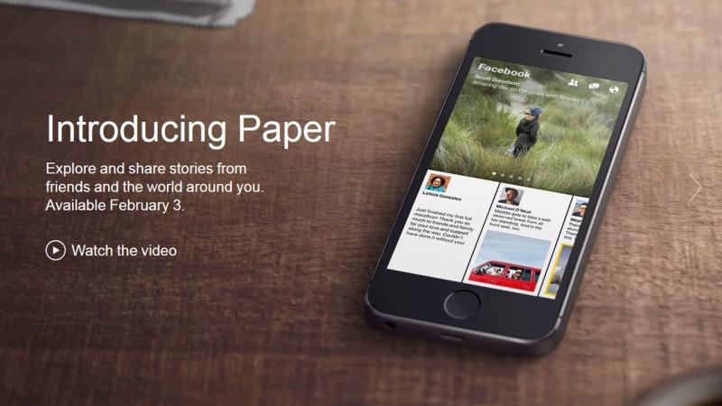 Facebook Paper: vers une sortie française prochainement?