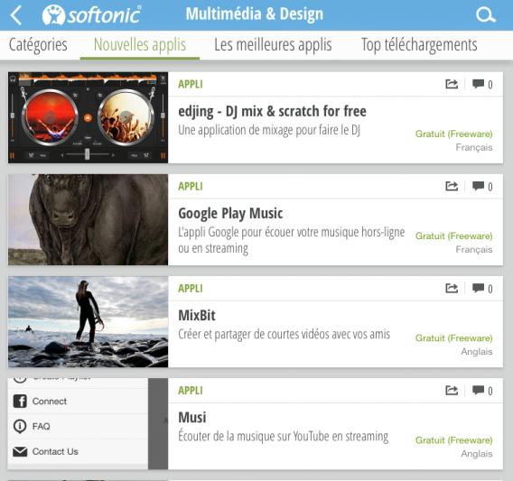 Softonic application musique