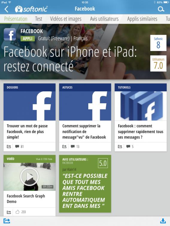 Softonic Facebook