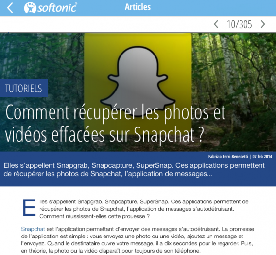 Softonic Snapchat