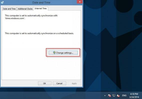 Alterando as configurações de horário no Windows