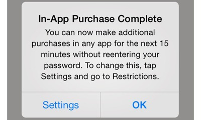 iOS 7.1 guards against unauthorized in-app purchases