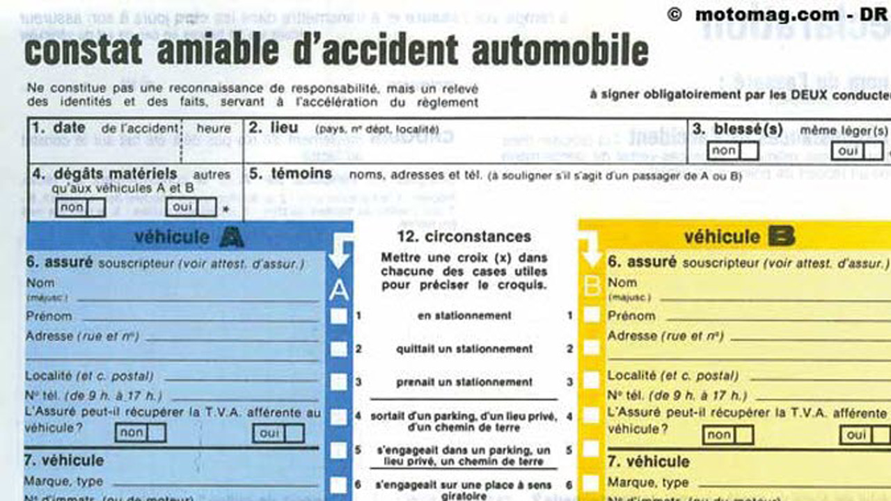 Auto: le constat à l'amiable enfin disponible en France sur Android et iPhone