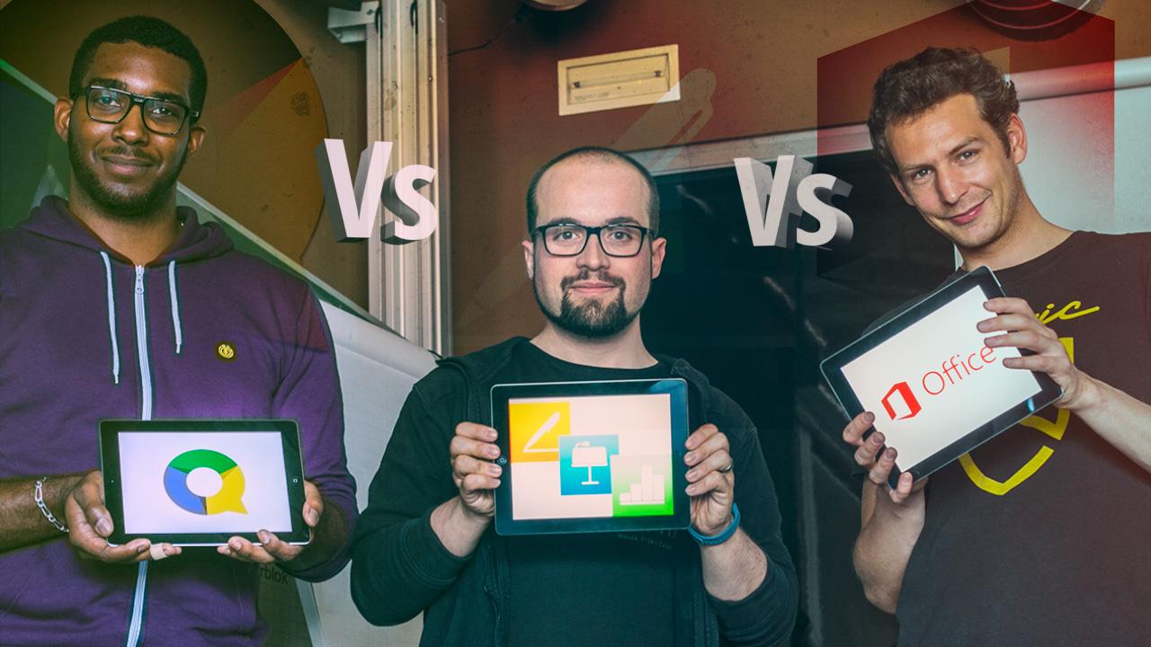 Quelle appli pour travailler sur iPad? On compare Office, iWork et Quickoffice en vidéo