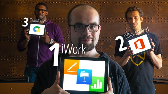 Comparatif Office vs iWork vs Quickoffice on iPad