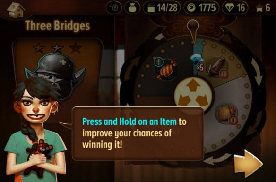Trials Frontier Wheel of fortune