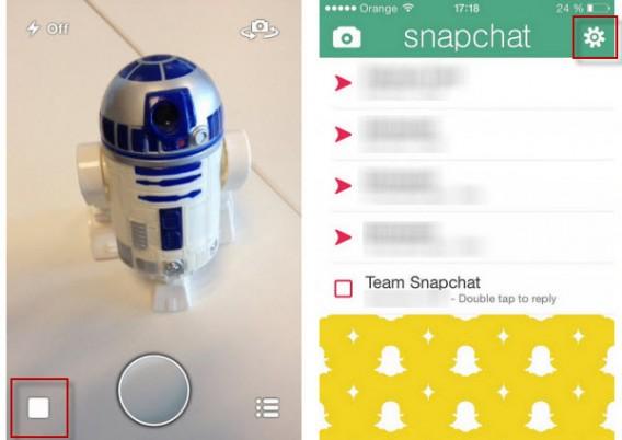 Accéder aux paramètres de l'application Snapchat