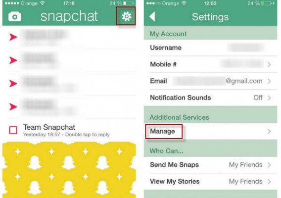 Snapchat additional features