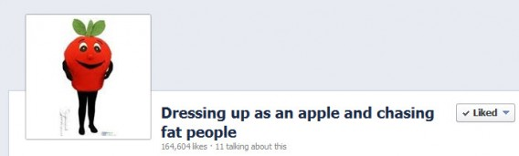 Dressing up as an apple and chasing fat people