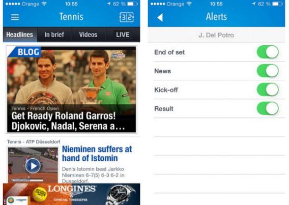 Application Eurosport