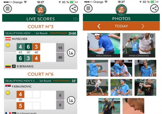 Application Roland Garros