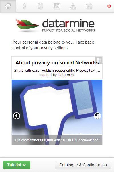 DataRmine application vie privée