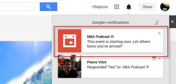 Notifications Hangouts