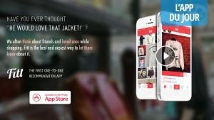 App du jour: Fitt., une app made in France pour communiquer les bons plans shopping [iOS]