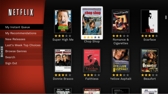 Interface Netflix