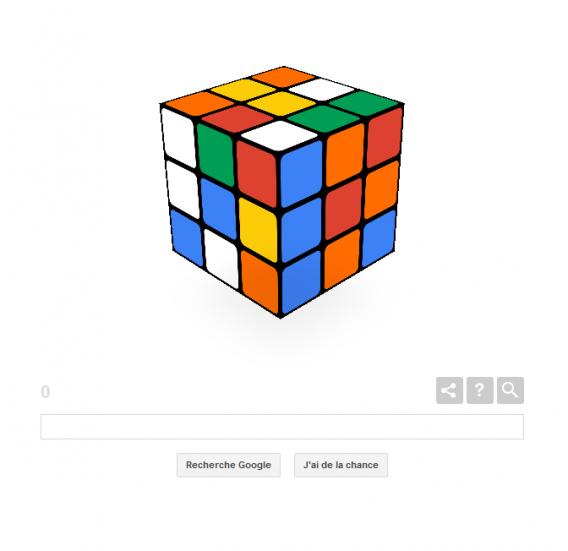 google c l bre les 40 ans du rubik s cube avec un jeu. Black Bedroom Furniture Sets. Home Design Ideas