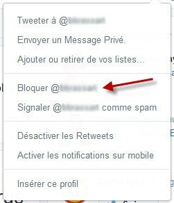 Twitter - blacklister un follower