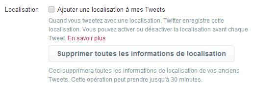 Twitter - localisation