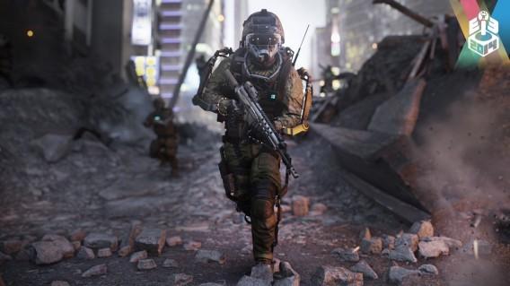 CoD Advanced Warfare - soldat dans décor en ruines