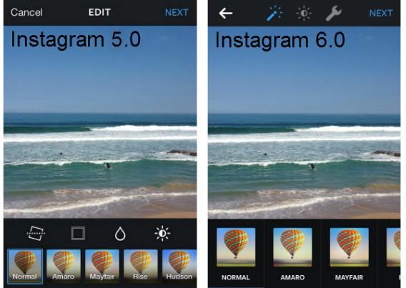 Instagram avant et après