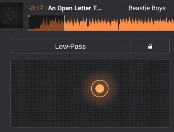 Efeito LowPass do Cross DJ é um utilitário eficiente para a edição
