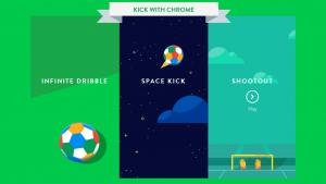 Google lance des mini-jeux dédiés à la Coupe du monde: Kick with Chrome