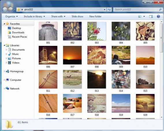 Todas as fotografias salvas pelo Free Instagram Downloader