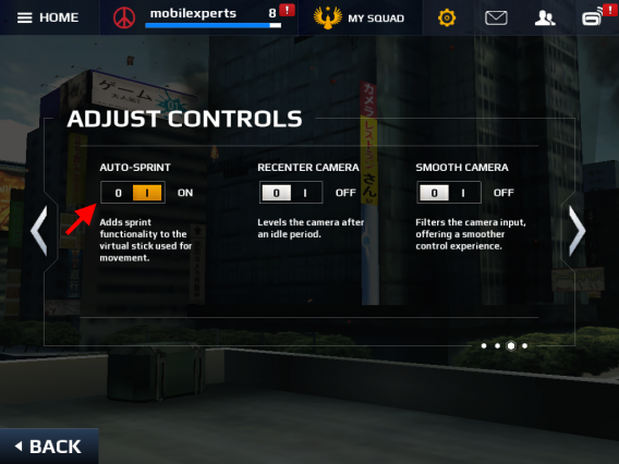 Modern Combat 5 Auto-Sprint