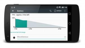 Jusqu'à 36% d'autonomie en plus avec Android L