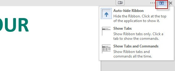 Auto hide ribbon options