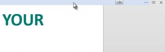 Blue ribbon interface cursor