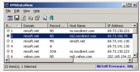 DNS DATA View