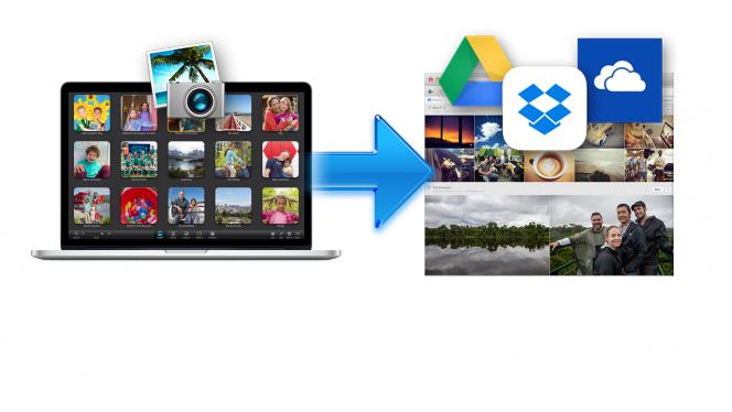 Comment exporter les photos de sa bibliothèque iPhoto vers Google Drive, Dropbox ou OneDrive