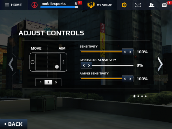 how to change mouse sensitivity for modern combat 5 blackout